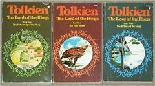LORD OF THE RINGS TRILOGY Tolkien UNWIN PB MATCHED 3 VOL BRITISH EDITION Lot 275