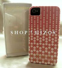 AUTHENTIC JUICY COUTURE CASCADING DOTS PINK IPHONE 4 4S HARD CASE NIB