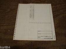 1983 Lincoln Continental wiring diagram schematic SHEET service manual
