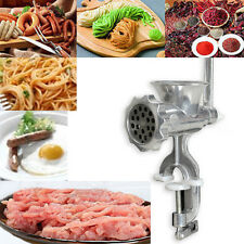 Cast Iron Manual Meat Grinder Mincer Table Hand Crank Tool for Kitchen #Cu3
