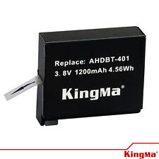 KingMa Gopro Accessories 1200mAh Li - ion Battery for GoPro Hero 4 - AHDBT-401