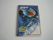 1984 OFFICIAL TORONTO ARGONAUTS/CFL POCKET SCHEDULE***CARLING O'KEEFE SPORTS***