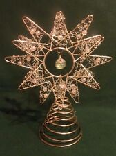 Metallic Beaded Tree Star or Table Topp Decoration