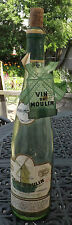 Vintage Vin du Moulin Wine Bottle with Attached Label and Cork And Neck Tag