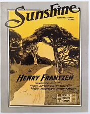 """SHEET MUSIC STORE POSTER """"SUNSHINE CHARACTERISTIC"""" ADVERTISING LARGE FORMAT"""