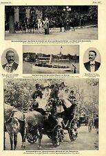 Wiesbaden Festtage Kaisertage Kaiserschiff Mailcoach Historical Memorabilia 1900