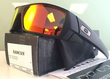 NEW Oakley Gascan 26-246 Matte Black w/ Ruby Iridium Sunglasses