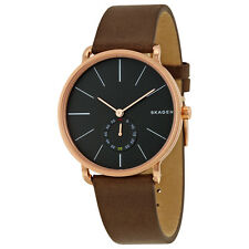 Skagen Hagen Black Dial Brown Leather Mens Watch SKW6213
