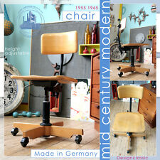 HEIGHT ADJUSTABLE VINTAGE MID CENTURY MODERN CHAIR BUREAU STUHL WEGNER PANTON ÈR