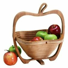 Collapsible Bamboo Wood Handicraft Fruit Basket