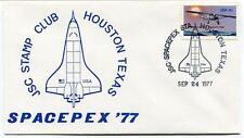 1977 JSC Stamp Club Houston Texas SPACEPEX NASA Space Satellite Sonda USA