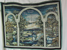 Serenity Prayer God Grant Me Courage Wisdom Tapestry Fabric Wall Hanging Panel