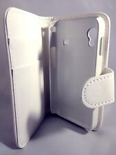 white WALLET Plain Case WithCard Slots for Samsung Galaxy Ace GT-S5830/GT-S5830i