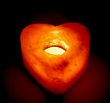 Himalayan Salt Candle Holder Heart Shape Tea Light Candle Holder Reiki Chakra.