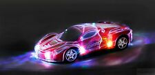 Haktoys Light Up RC Car for Kids,Boys & Girls w/ Spectacular Flashing LED Lights