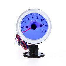 "2"" 52mm Tach Gauge with Holder Cup for Auto Car 0~8000RPM Blue LED Light Hot US"