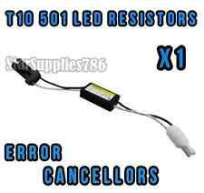 1x T10 501 W5W RESISTENZE NO CANBUS Errore LED Luce Laterale RESISTENZE