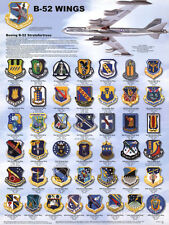 Laminated B-52 Wings Stratofortress Airplane Military Chart ... Laminated Poster