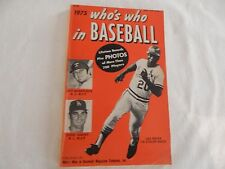 1975 Who's Who In Baseball VERY GOOD CONDITION! PRICED RIGHT!