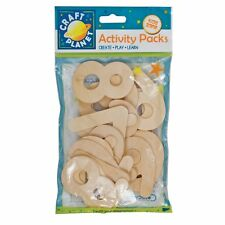Craft Planet 20-Piece Natural Wooden Number, Beige CPT6681117