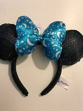 New Disney Parks 2017 Item Blue Star Sorcerer Minnie Sequin Headband Ears Bow