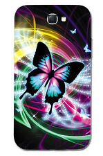 CUSTODIA COVER CASE FARFALLA BUTTERFLY COLORI PER SAMSUNG GALAXY NOTE 2 II N7100