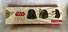 Star Wars Cookie Cutters Williams Sonoma Yoda Darth Vader Boba Fett Stormtrooper