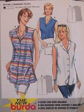 Super Easy BURDA 3226 Misses Sleeveless Blouses PATTERN 8-18 UC
