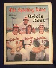 July 8 1978 The Sporting News  Jim Palmer  Orioles Aces