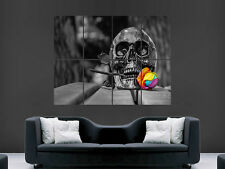 SKULL ROSE FLOWER GOHTHIC   GIANT WALL POSTER ART PICTURE PRINT LARGE