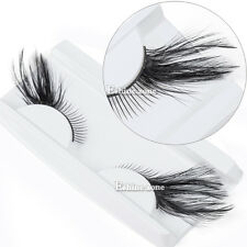 Black Makeup Fancy Feather Eyelashes Party Cosplay Halloween Eye Lashes Cosmetic