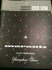 Original Marantz Model 2020/2050 Stereophonic Tuner Service Manual