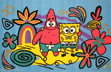 3x5 Area Rug Spongebob & Patrick Star SquarePants Cartoon Fun Time NEW