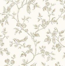 Fine Decor - FD40290 - Flower - Birds - Luxury  Motif Wallpaper - Cream
