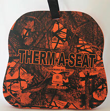 "NEP THERM-A-SEAT® 3/4"" THICK ORANGE INVISION CAMO HOT SEAT PAD HUNTING C701"