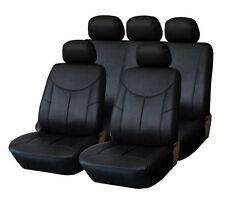 Premium cuero piel sintética cubierta de asiento referencia 2er set delantera negro #8 para Ford