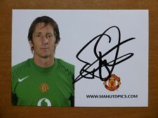 2005-06 Edwin Van Der Sar Signed Man Utd Club Card (5690)