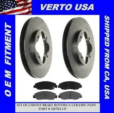 Verto USA Set Of 2 Front Disc Brake Rotors & Ceramic Pads  3287X-CP