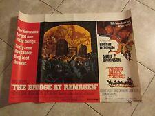 THE BRIDGE AT REMAGEN movie poster  ROBERT VAUGHN -  Original UK Quad