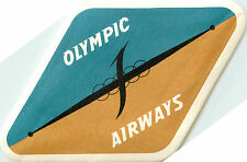 OLYMPIC AIRWAYS ~GREECE~ Great Old Airline luggage Label, c. 1960