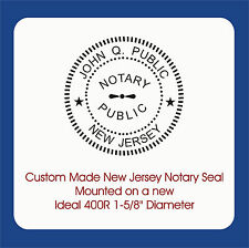 """New Jersey Notary Seal-Custom Trodat / Ideal 400R Self Ink 1-5/8"""" Round Image"""