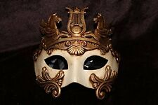 Mens Adult Cream & Gold Masquerade Greek Roman God Soldier Warrior Party Mask