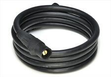 50' 4/0 WELDING CABLE With Cam Locks BLACK EXCELENE MADE IN USA AWG COPPER