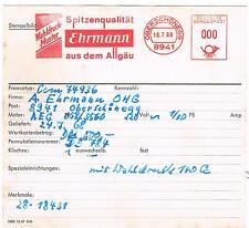 8941 Obershönegg Ehrmann aus dem Allgäu Spitzenqualität  AFS Archivkarte unikat