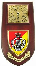 RAC ROYAL ARMOURED CORPS CLASSIC STYLE HAND MADE TO ORDER  WALL CLOCK