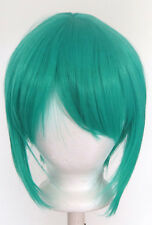 12'' Bob Cut Seafoam Green Blue Synthetic Cosplay Wig NEW