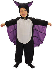 Childs Bat Costume Toddler Halloween Horror Fancy Dress Outfit Age 3 Years P8745