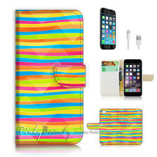 iPhone 6 6S Plus (5.5') Flip Wallet Case Cover P2730 Abstract
