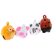4pcs Mixed Lots Colorful Cartoon Animal Charms Jingle Bells Charms Accessories D