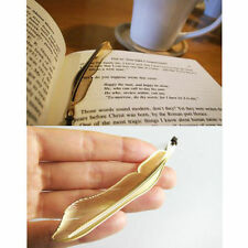 1Pc Novelty Feather Bookmark Gold Plated Hollow Animal Feather Book Accessories